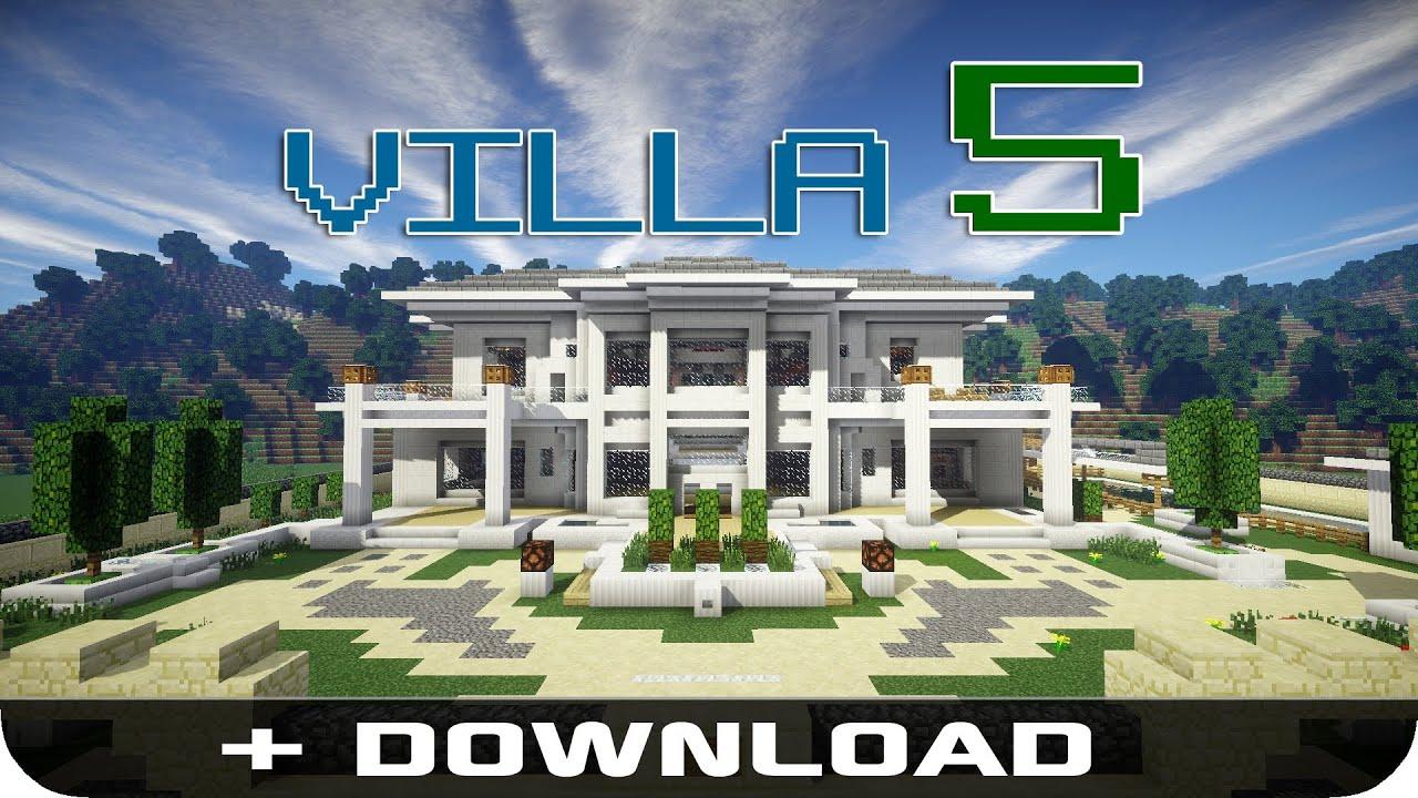 Villa mit tresor raum kartenschloss und autom postfach for Minecraft modernes haus bauen und einrichten