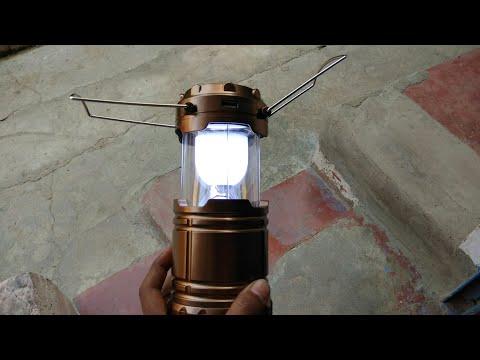 LED Solar Emergency Light (Lantern) -Travel Camping Lantern/सोलर एलईडी लालटेन