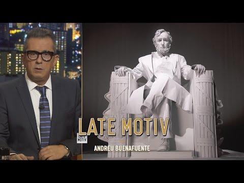 LATE MOTIV -  Andreu Buenafuente conversa con la estatua de Abraham Lincoln | #LateMotiv157