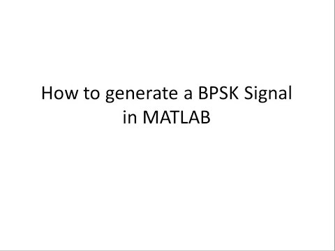 GENERATION OF BPSK SIGNAL IN MATLAB