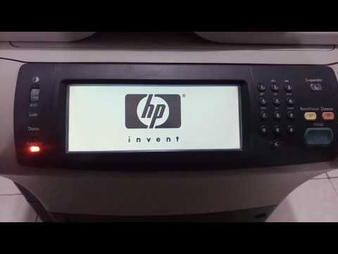 HP LaserJet M4345 MFP Cold Reset