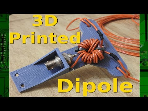 3D Printing - A Ham Radio dipole center with BNC and 1:1 balun