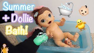Baby Alive Summer Gets a Bath with Dollie   Kelli Maple