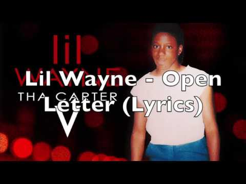 Lil Wayne - Open Letter (Lyrics)