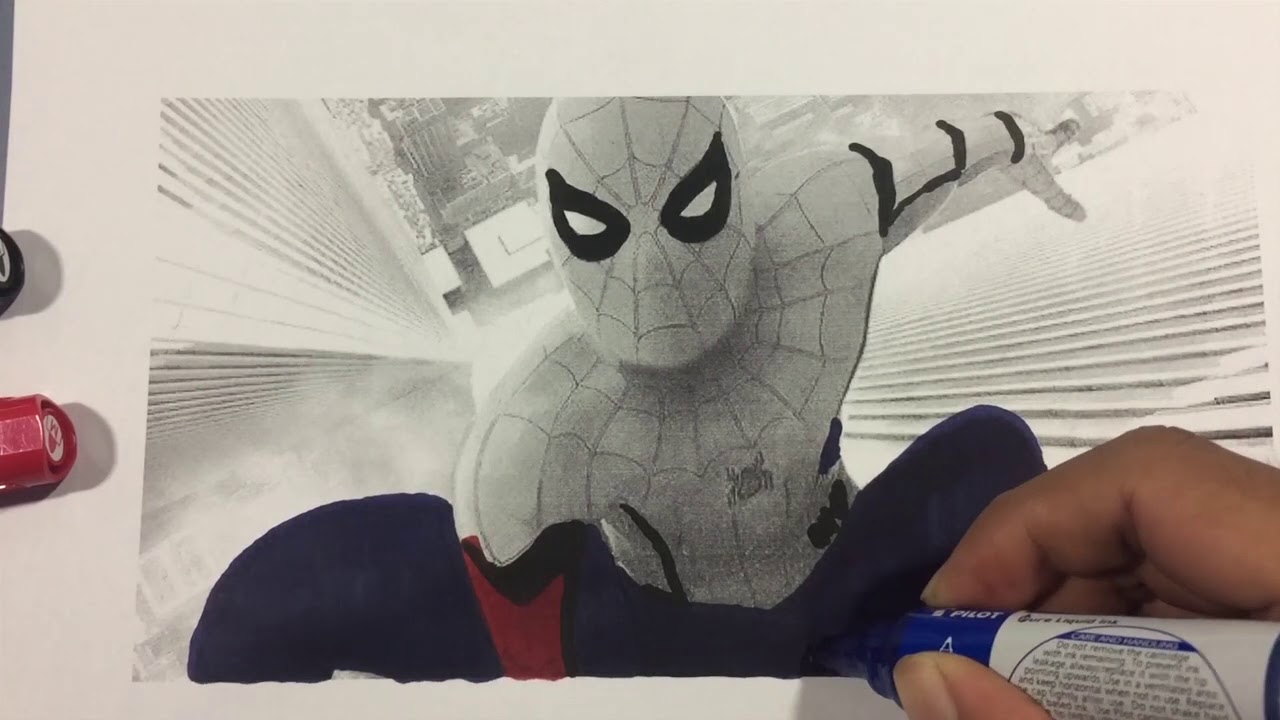 SPIDERMAN HOMECOMING In CITY FOR NEW YEAR Coloring Pages