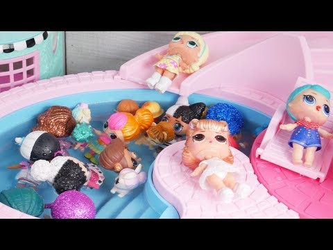 Masquerade Barbie Family DIY LOL Family Custom Pool Craft With Food