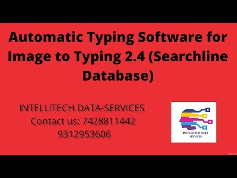 Automatic Typing Software for Image to Typing (All India Data Entry Jobs)