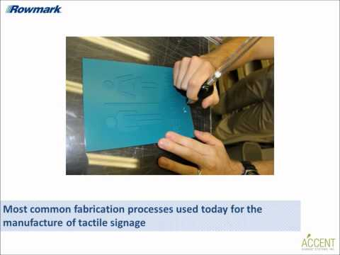 Part I: Industry Trends and Fabrication Processes for Tactile Signs