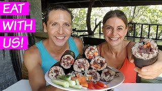 Sushi Burritos Mukbang | Where Have We Been? + Changes