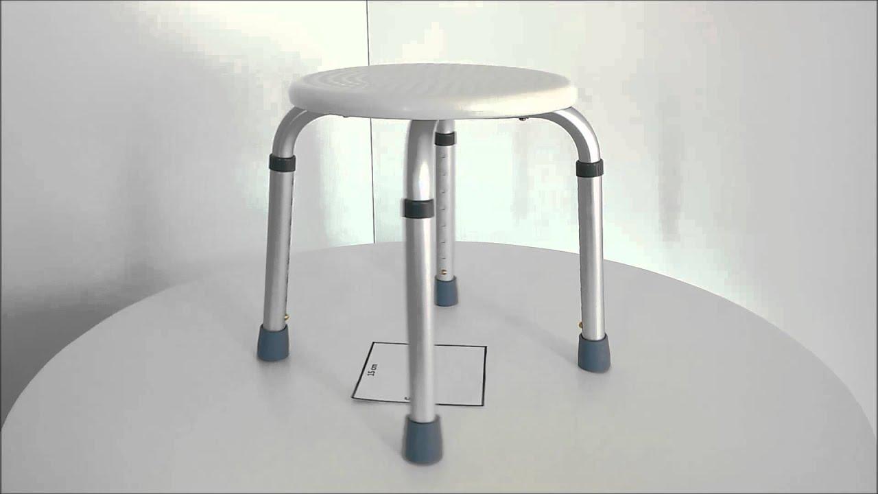 Taboret Pod Prysznic Okragly Krzeslo Prysznicowe Youtube
