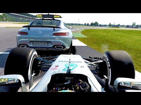 GETTING A BIT TOO CLOSE TO A SAFETY CAR - F1 2017 Career Mode Part 110