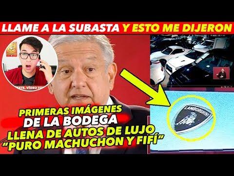 AMLO REVELA IMAGENES DE BODEGA CON AUTOS DE LUJO: Hasta Lamborghini´s
