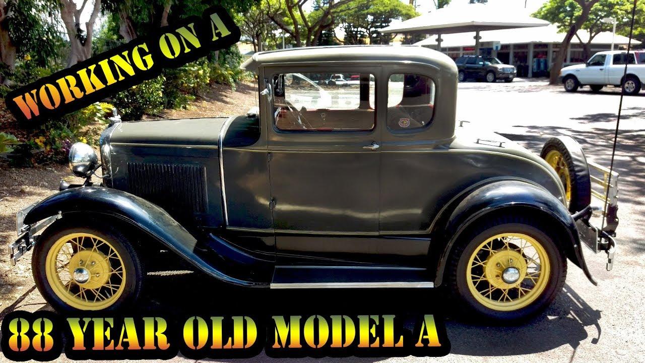 Working An 88 Year Old Classic Car - Classic Car In Hawaii -1930 ...