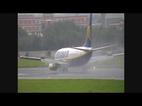 Windy landings and takeoffs at Belfast City Airport