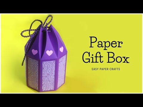 Paper Gift Box | How To Make Gift Box? DIY Gift Ideas | Paper Crafts Easy