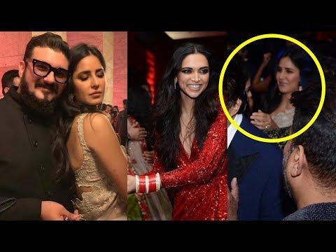 Katrina Kaif enjoying and Dancing with Deepika Padukone at Ranveer_Deepika Reception