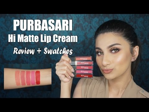 purbasari-hi-matte-lip-cream-review-&-swatches-(all-shades)-|-jezhira-makeup