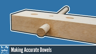 Make accurate dowels with a router