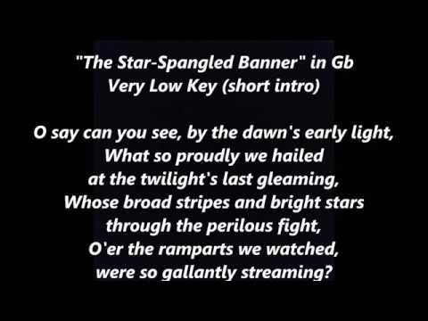 NATIONAL ANTHEM Karaoke Low Gb instrumental backing tracks trax LYRICS WORDS Star-Spangled Banner