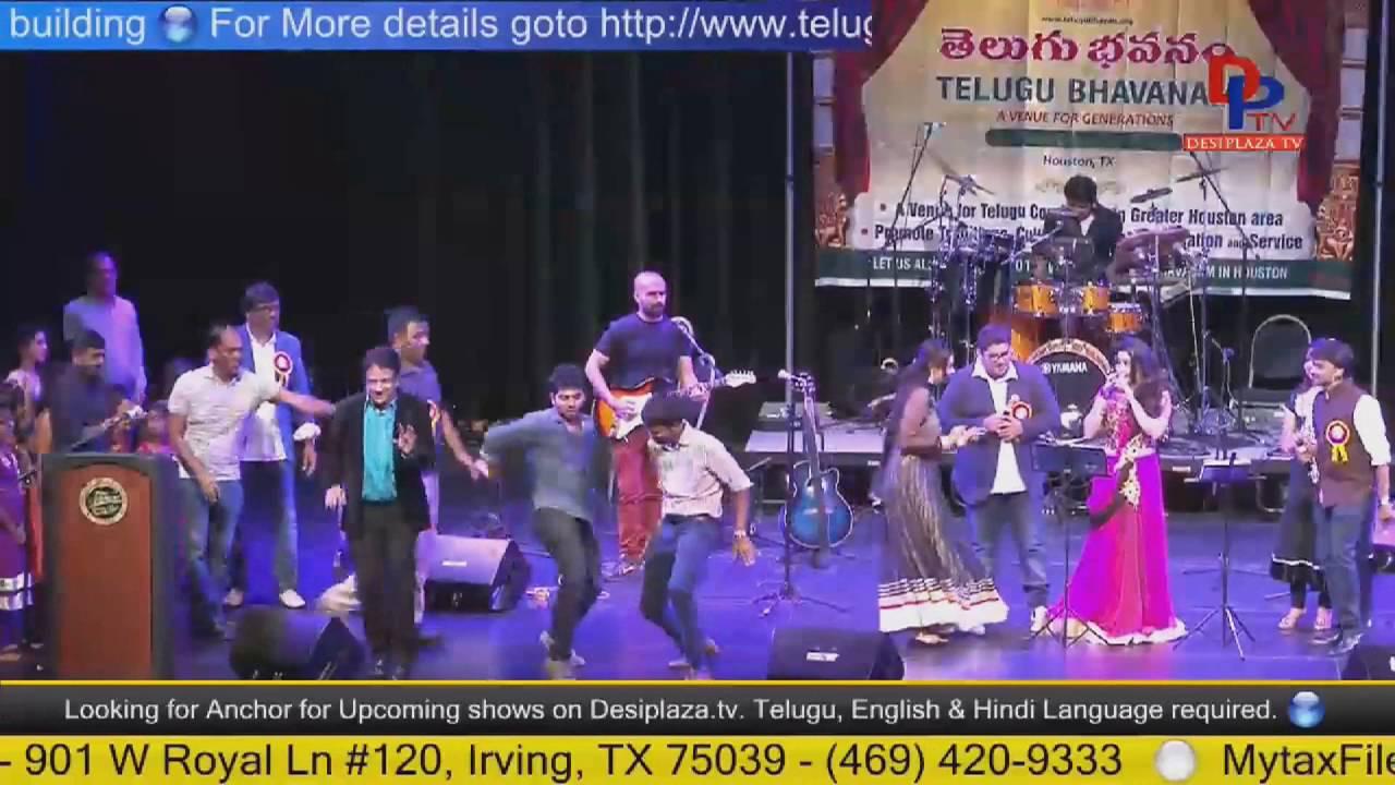 Shiva,Sai Shilpa and Shruti singing at Telugu Bhavanam fund Raising - Houston