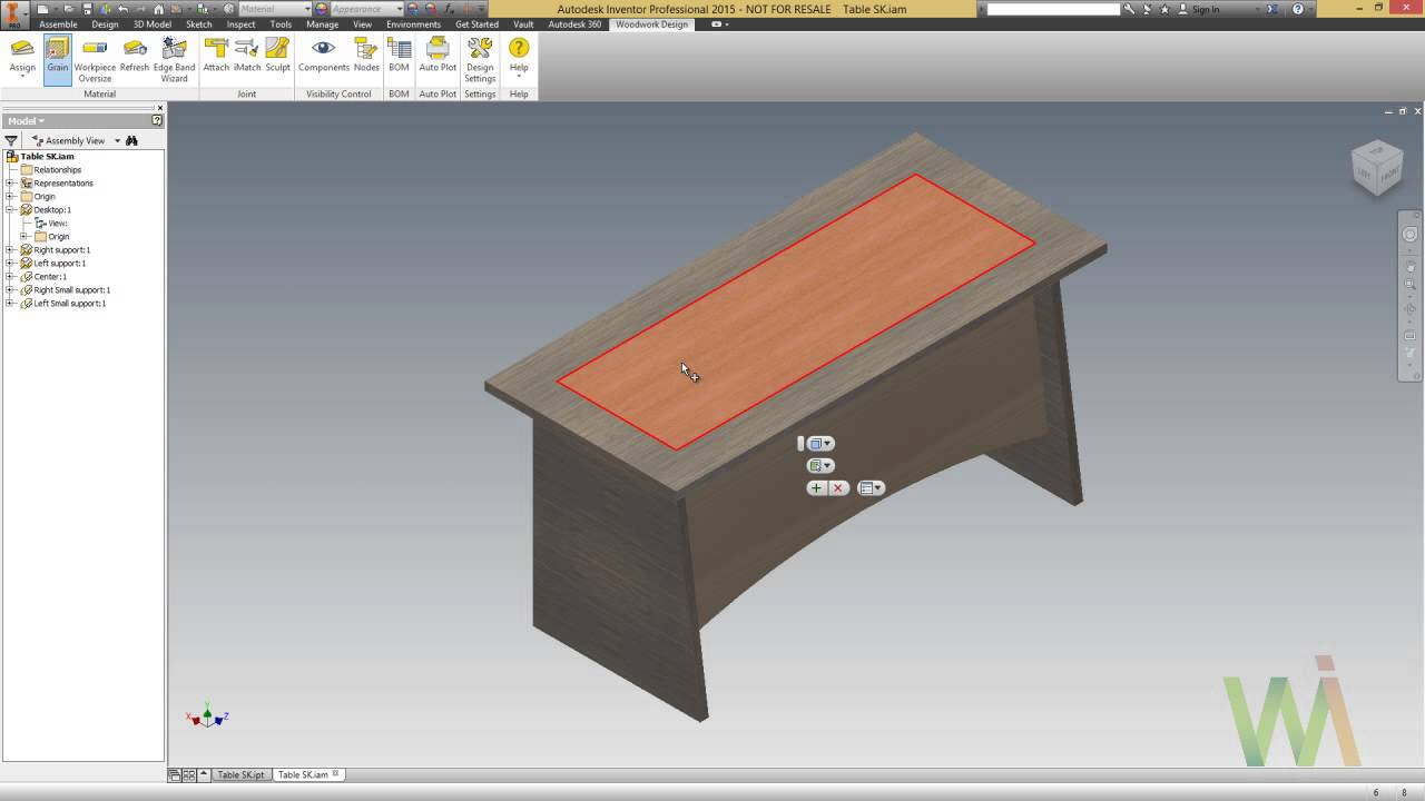 inventor 2015/2014 - woodwork for inventor