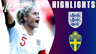 England 0-2 Sweden | Unfortunate Result for Steph Houghton's 100th Cap | Lionesses Highlights