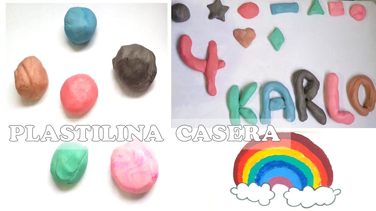 COMO HACER PLASTILINA CASERA/ Manualidades para niños/ fácil y económico!