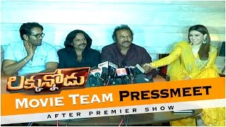Luckunnodu Movie Team Pressmeet After Premier Show Mohanbabu,Vishnu Manchu, Hansika Motwani