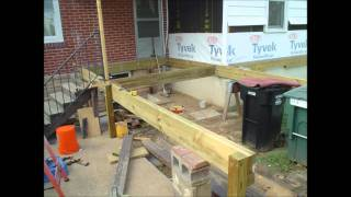 New Deck Construction (starting To Build The Framework)