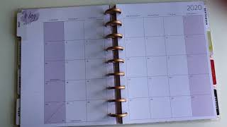 Flip through of new 2020 1 year Happy Planner classic lined vertical layout
