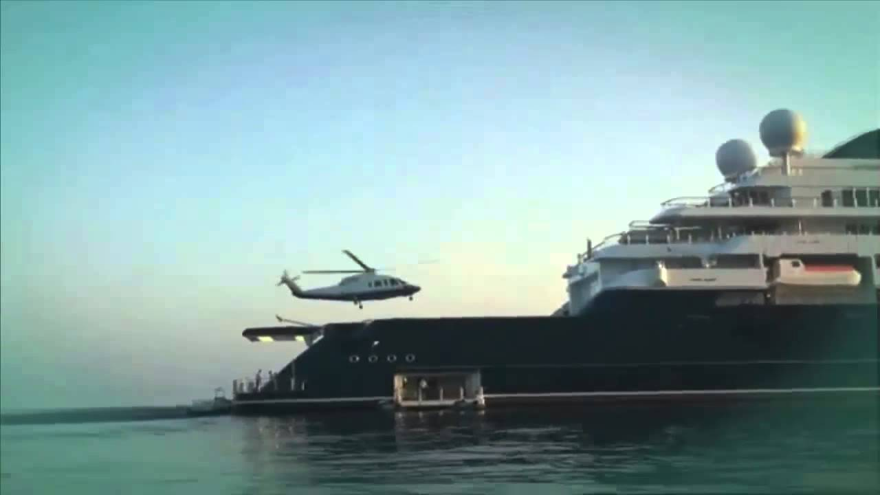 Mega Yacht Octopus 5 I Helicopters Two HD