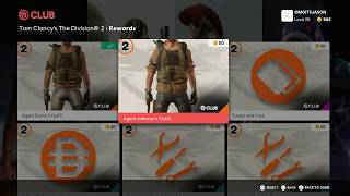 The Division 2 - Club Rewards Message: Shopping: Agent Dunne's Outfit & Specialized MPX SMG (2019)