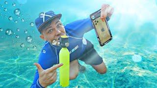 Нашел смартфон и GoPro под водой, с помощью акваланга у мажорского пляжа!