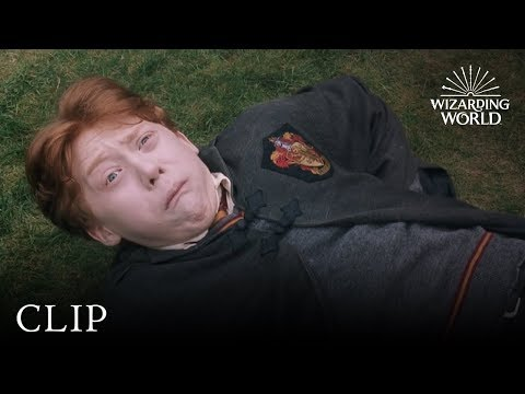 Rons Slug Spell Backfires | Harry Potter and the Chamber of Secrets