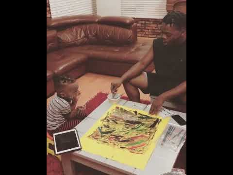 Olamide Share Video Of Himself & His Son Painting