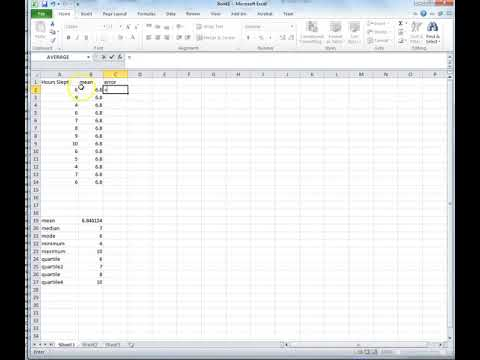 Descriptive Statistics In Excel 2011