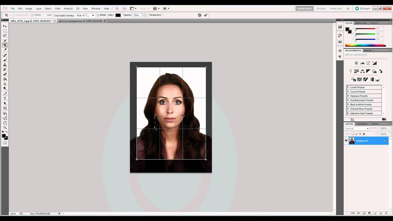 изменения как сделать фотографию на документы в фотошопе виновным смерти спикера