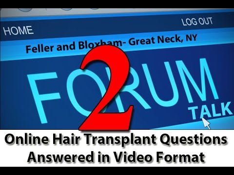 Cut my hair for my hair transplant ? Feller and Bloxham | Great Neck | Long Island | NY | New Jersey