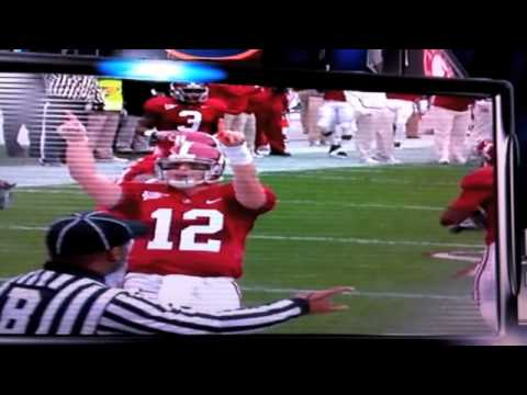 Greg McElroy Staying Classy