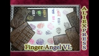 Пластины для Стемпинга Finger Angel VL / Алиэкспресс / AliExpress.