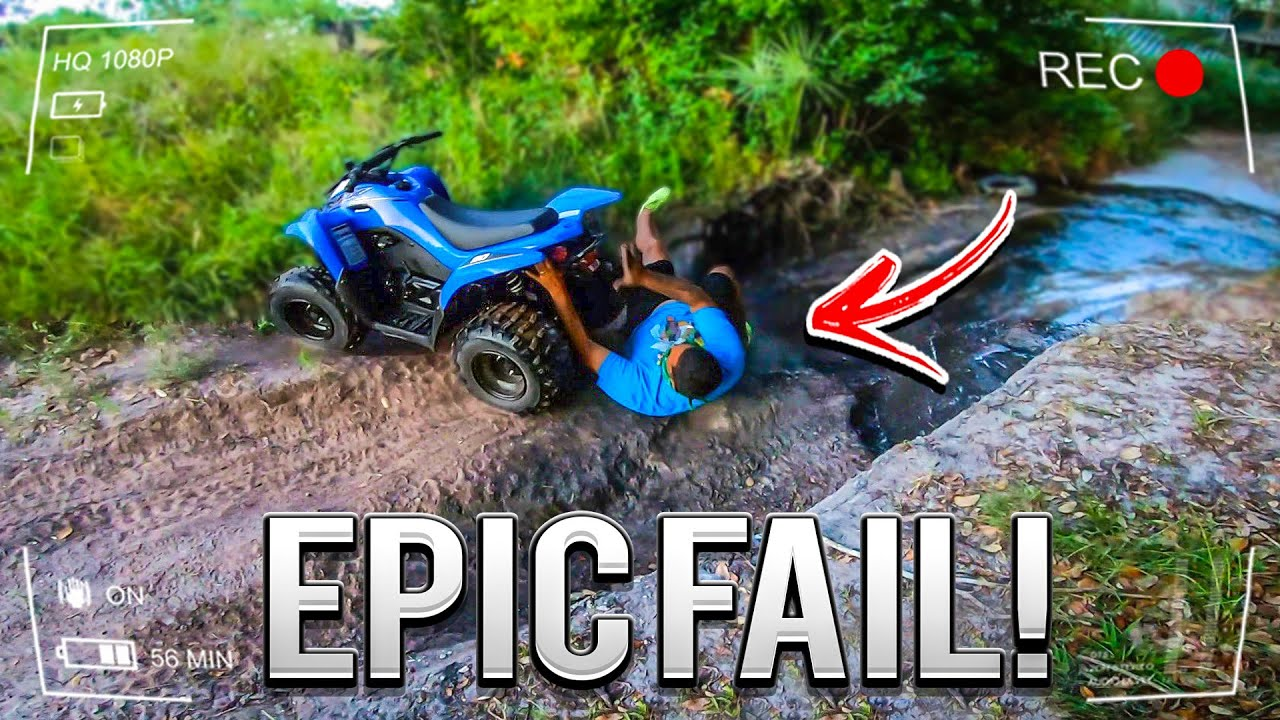 MY FREIND FLIPS OFF A QUAD AND GET STUCKS UNDER IT ! ( SUPER FUNNY )   BRAAP VLOGS