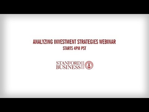 Analyzing Investment Strategies Webinar