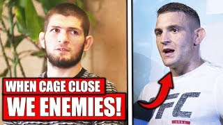 Khabib: Dustin Poirier is my ENEMY when the cage closes, Dana …