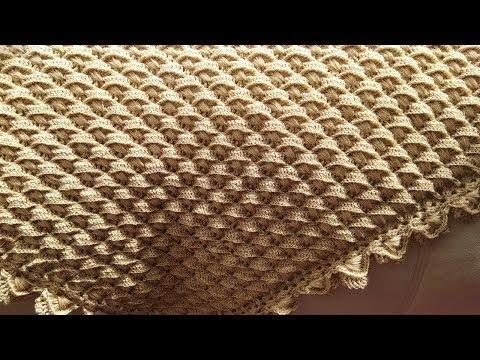 Крючком платки шали
