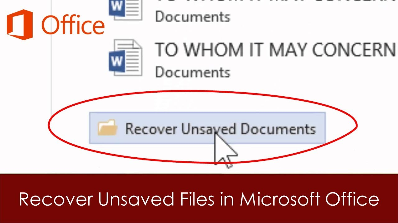 how to find a file accidently unsaved