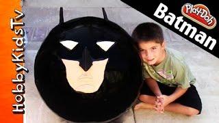 mega giant play doh batman surprise head superhero kinder chocolate egg marvel hobbykidstv toys