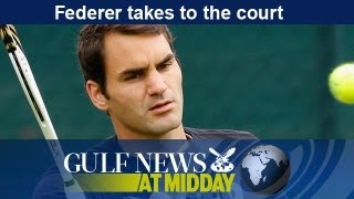 Roger Federer takes to the Wimbledon Court - GN Midday Monday June 24 2013