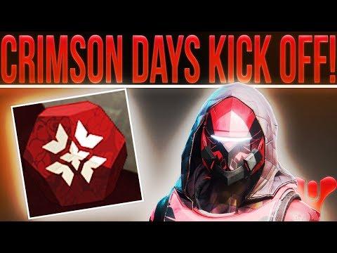 🔴LIVE! Destiny 2 Crimson Days Kick Off! (Weekly Reset, 2v2 Clash, New Loot, Milestones & More!)