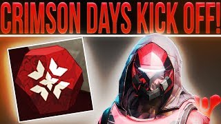🔴LIVE! Destiny 2 Crimson Days Kick Off! (Weekly Reset, 2v2 Clash, New Loot, Milestones & More!)