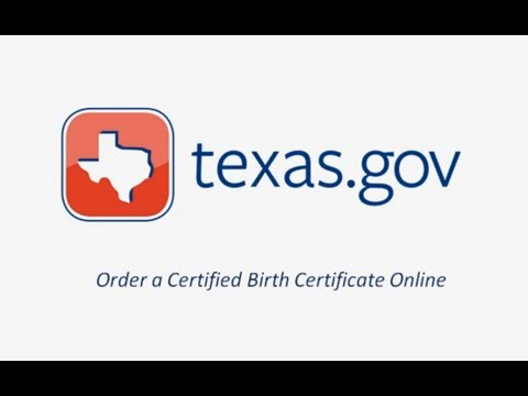 Texas.gov Birth Certificate Request Demo Video - YouTube